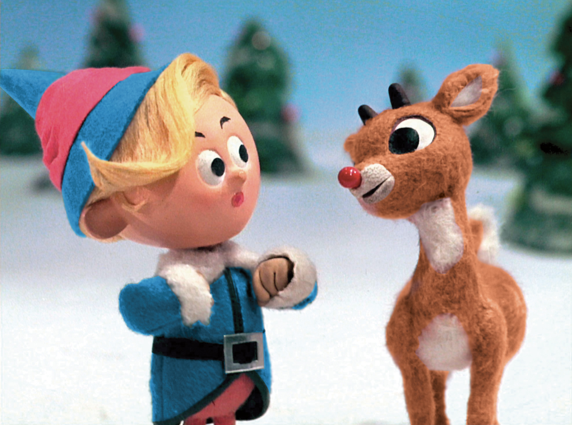 Rudolph the Red-nosed Reindeer and his friend