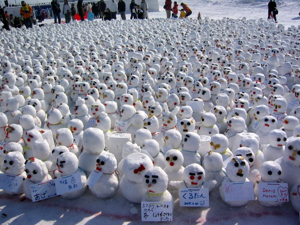 A winter Wonderland of hundreds of snowmen